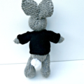 Reserved for Beth Pirate Bunny Toy with Black Skull and Crossbones Jumper