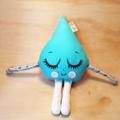 Original Handmade Little Miss Raindrop Rattle blue pink