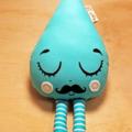 Original Handmade Gentleman Raindrop rattle Blue