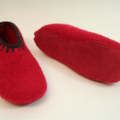 Washable Felt Slippers with leather or recycled car tube rubber soles, EU35 - 37