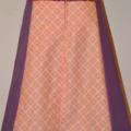Orange and purple A line panel skirt