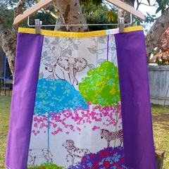 Echino safari print A line skirt