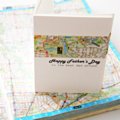 Custom Father's Day map card Melbourne map happy Father's day