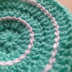 Crochet Coasters in Mint and White - Set of 4