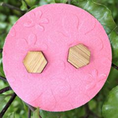 Hexagons Laser Cut Wooden Earrings