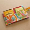 Fluoro Abstract Tea Wallet - Holds 4 Teas - Fluoro pattern with pink pocket