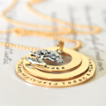 Gold Layered Necklace Personalised Washers 14k Gold Filled Mother Grandmother