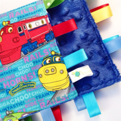CHUGGINGTON ~ Baby Security Blanket Blankie Taggie Toy