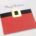 Handmade Christmas Card - Merry Christmas Santa Belt