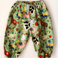 Unisex baby pants, harem pants, baby harem pants, size 6 months