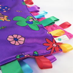 BEES and BUTTERFLIES - Baby Security Blanket Taggie / Taggy Toy Comforter