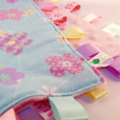 SPRING FLOWERS Baby Security Blanket Blankie Taggie Toy