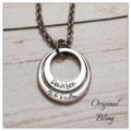 Personalised Hand Stamped Double Family Pendant