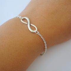 Infinity Bracelet - Infinity Charm Bracelet, Bridesmaid Bracelet, Best Friends