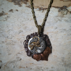 RESERVED FOR CAROLINE Steampunk Dragonfly - necklace