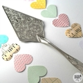 Choose your stamping - Hand Stamped Cake Server