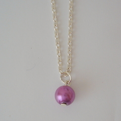Little Purple/Lavender  Drop Necklace, ideal as a gift