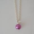 Little Purple/Lavender  Drop Necklace, ideal as a gift