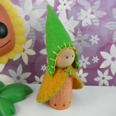 Spring Wooden Gnome