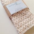Crochet Face Cloth, Cotton in Cream set of 2