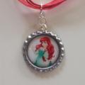Ariel Mermaid Princess Boutique Bottlecap Pendant Necklace