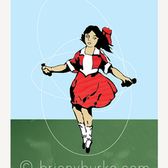 Little Audrey - Skipping Girl Vinegar Neon Vintage Sign 8x10 Art Print/Wall Art