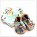 Last ever set - Western Cowboy/Cowgirl Baby Shoes & Bandanna Gift Set