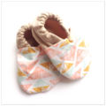 Peach Triangles Baby Shoes