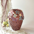 A Touch of Vintage... Mosaic embellished vase