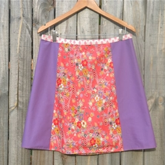 Pink Japanese fabric A line panel skirt