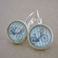 Shabby Chic Bicycle Earrings