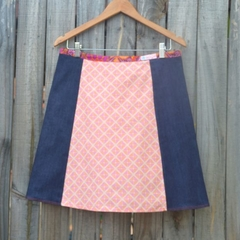 Orange & denim A line skirt