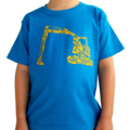 Digger/Construction blue T-shirt