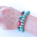 Festival green amazonite, bright colour beaded bracelet by Sasha + Max Studio