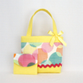 Mini Tote Bag & Purse - Yellow Circles