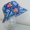 Boys summer hat in rocket fabric