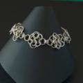 Sterling silver chainmaille bracelet. Silver bridal bracelet. Gift for her.