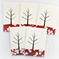 5 Mini Gift Cards, Handmade Blank Gift Tags, Birthday Christmas Thank You