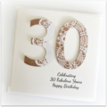 30th Personalised card birthday card kraft doily