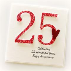 Personalised Anniversary Card,  Custom Made, 20th 25th 30th 35th 40th 50th 60th