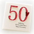 personalised 50th anniversary card wedding anniversary golden
