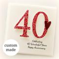 Anniversary ANY YEAR Custom card Wedding Wife Husband Mum Dad 20 30 40 50 60