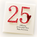 Personalised Anniversary Card,  Custom Made, 20th 25th 30th 35th 40th 50th 60th