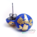 Periwinkle Dome Studs with Gold detailing
