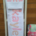 Girls Personalised / Name Towel & Face Washer Set
