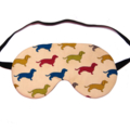 Dachshund Dogs on Cream Sleep Eye Mask