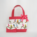 Mini Tote Bag & Purse - Pink Baby Owls
