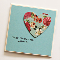 Kitchen Tea card | Vintage heart | Limited Edition | Bride To Be Groom To Be