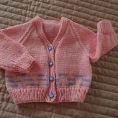Size 1 yrs cardigan  by CuddleCorner: OOAK, washable,