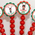 Custom Reindeer Christmas Lolly Tube Order For Lisa.